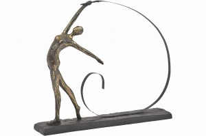 Back Ribbon Dance Bronze Sculpture