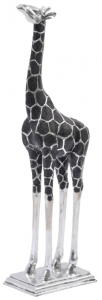 Animal Giraffe Silver Sculpture 92 cm