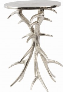 Chester Silver Aluminium Antler Side Table