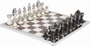 Eaton Nickel and Resin Chess Set