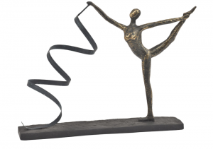 Antique Bronze Sculpture Dancer with Ribbon
