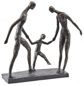 Ayrton Three Bronze Sculpture 31 cm