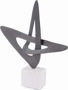 Manresa Matt Black Abstract Sculpture