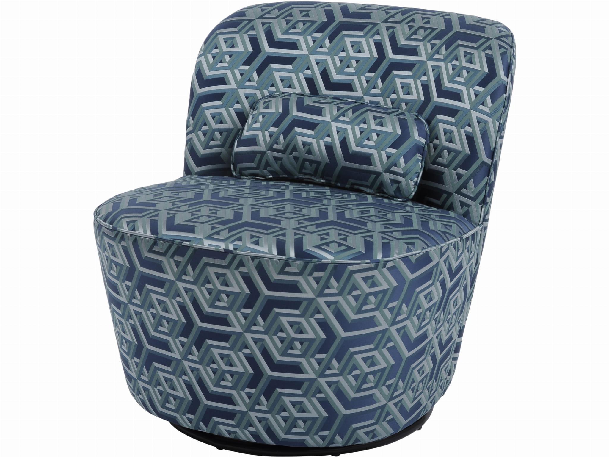 Niebiesko Zielony Fotel Obrotowy Greenwich W Stylu Retro
