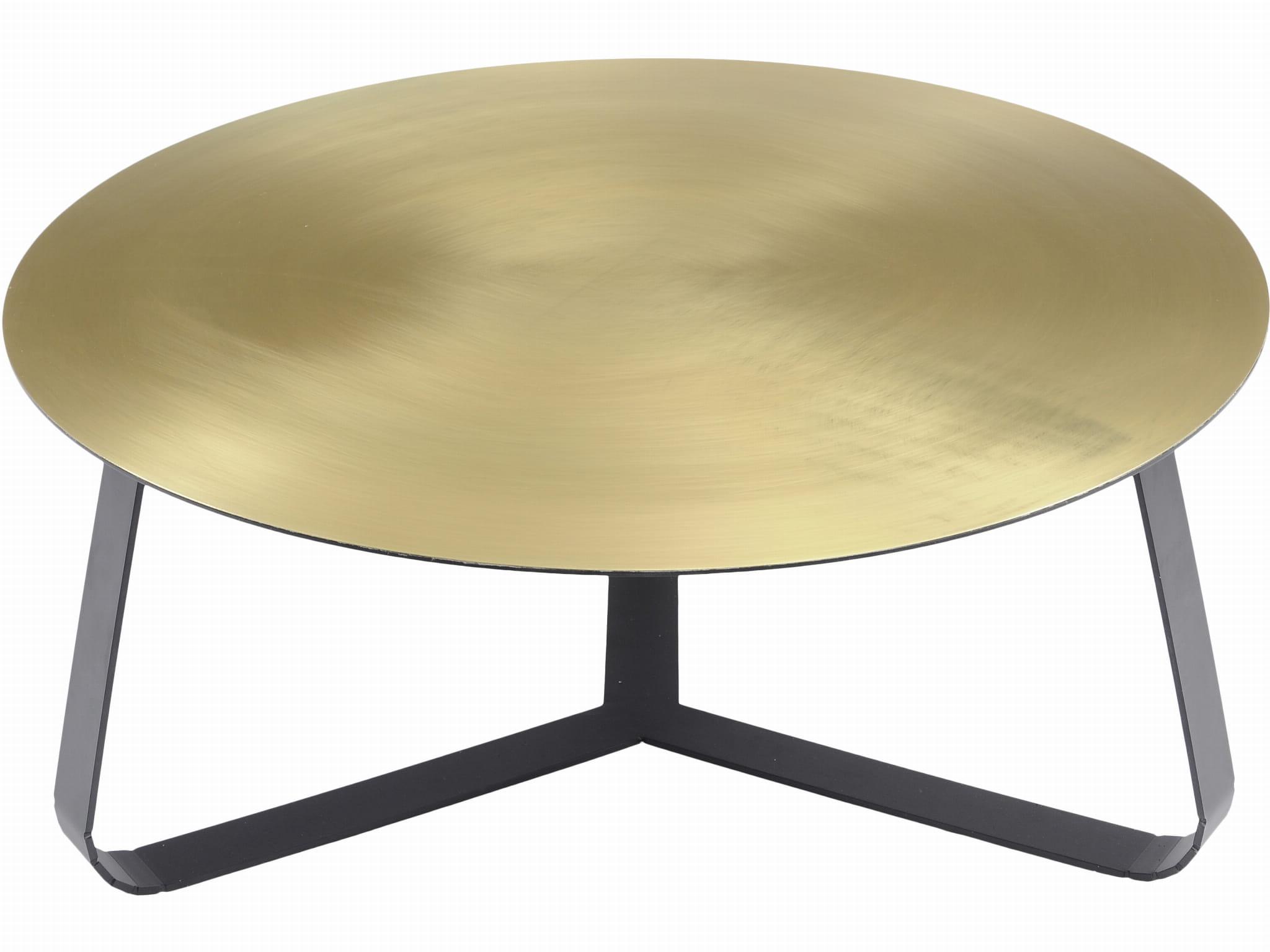 Belgrave Brass Round Coffee Table 80 Cm With Black Steel Frame K B London