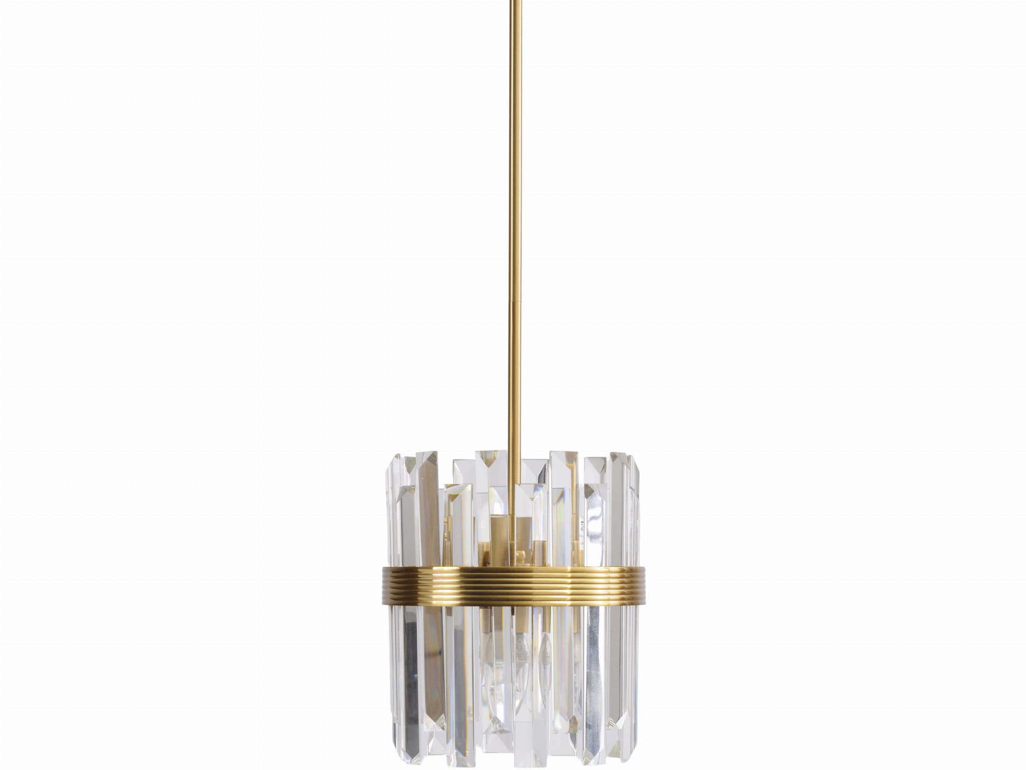 Rochester Crystal Pendant Lamp 140 Cm Round With Bronze Details K B London